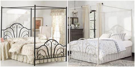 4 Four Poster Metal Canopy Bed Frame Bedroom Furniture