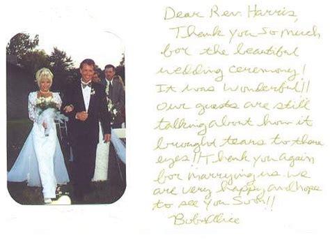 notes comments  rev harris weddings