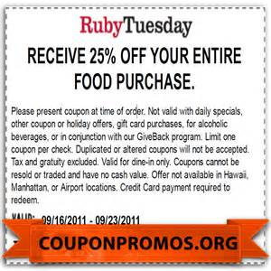 ruby tuesday coupon 2017 2018 best cars reviews