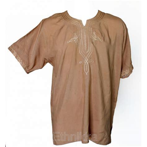 achat de tunique ethnique homme marron
