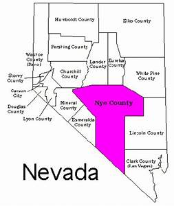 Nevada Counties Map