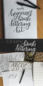 the beginner brush lettering kit is a 40 page practice With brush lettering beginner kit