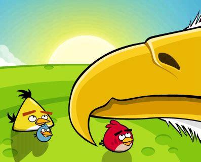 yellow angry bird game wallpaper