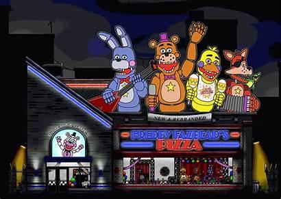 Freddy Fazbear Pizza Outside Fnaf Molten Jedi