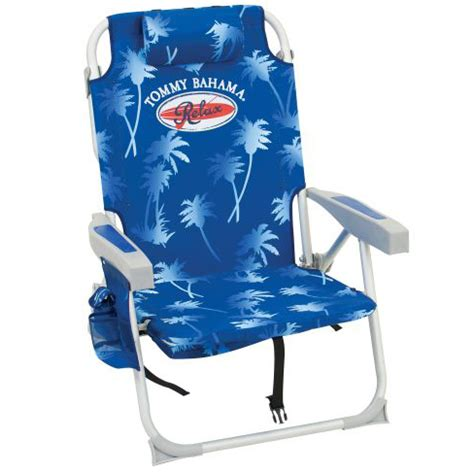 Bahama Backpack Cooler Chair Blue by Bahama Backpack Cooler Chair Blue Palms