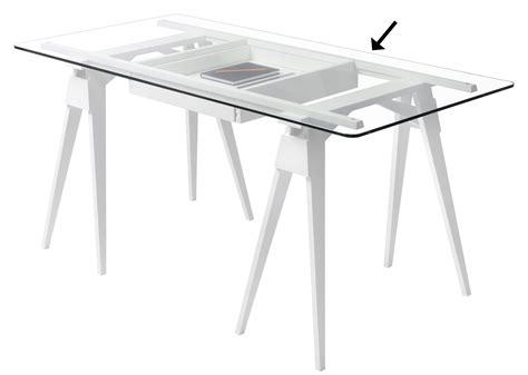 plateau de bureau plateau verre pour bureau arco 150 x 75 cm plateau