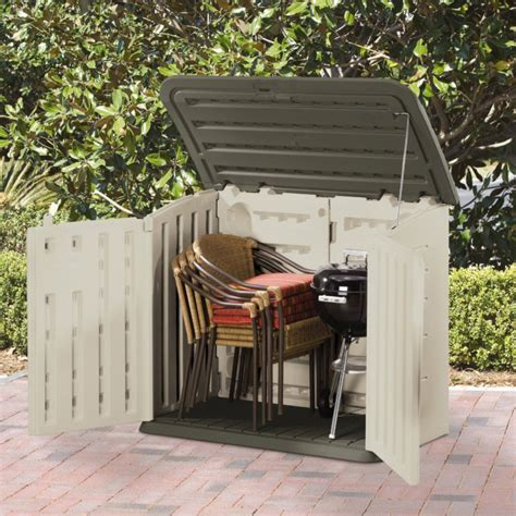 Rubbermaid Horizontal Storage Shed 32 Cu Ft by Rubbermaid 32 Cu Ft Horizontal Storage Shed By