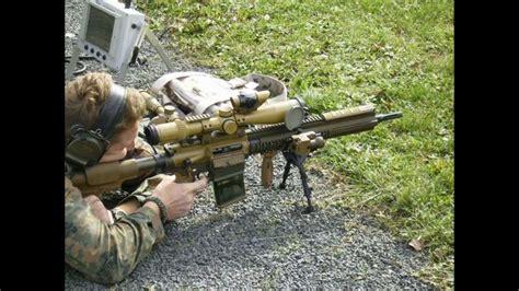 hk   designated marksman rifle bundeswehr youtube