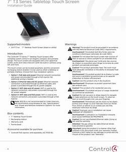 Control4 C4tt7 Wifi Dts B  G  N Portable Touch Screen User
