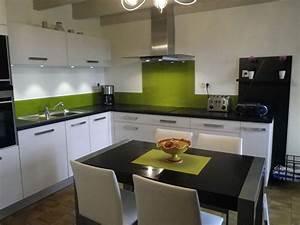 cuisine verte pas cher sur cuisinelareduccom With cuisine verte et blanche