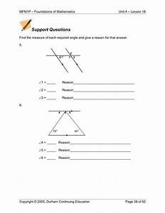 Find The Missing Angle Measure Worksheet