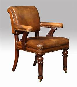 William, Iv, Mahogany, Library, Chair
