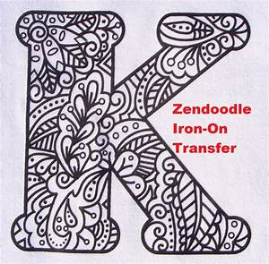 letter k transfer iron on heat press adult coloring page With iron press letters
