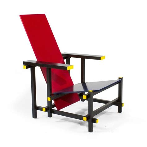 cassina and blue lounge chair by gerrit rietveld italy