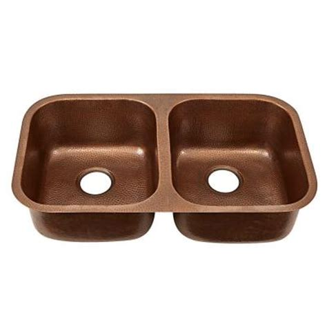 home depot copper sink sinkology undermount handcrafted solid copper 18 5 in
