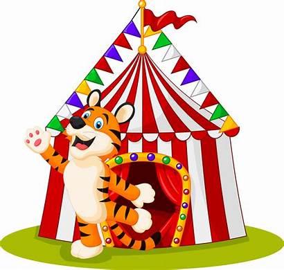 Circus Circo Clown Cartoon Carpa Dibujos Animados
