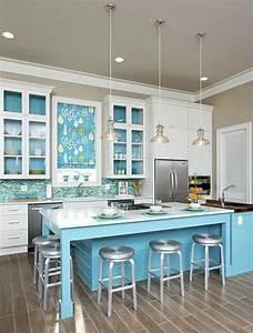 Cuisine bleu 25 idees deco cuisine bleue for Idee deco cuisine avec deco meuble scandinave