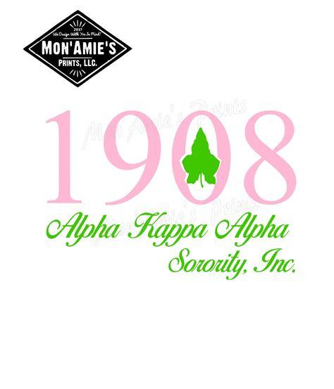 Find & download free graphic resources for svg. Alpha Kappa Alpha 1908 svg/jpeg file | Etsy
