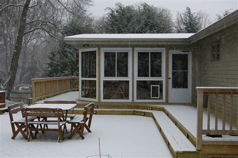 winter snow and deck porch protection custom decks of
