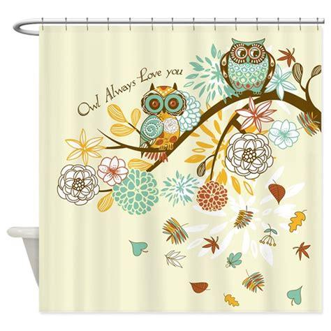 owl bathroom accessories canada autumn owl shower curtain by gatterwe