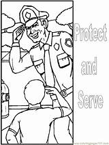 Coloring Police Pages Printable Community Helpers Printables Policeman Police4 Officer Worksheets Protect Serve Comments Advertisement Coloringhome Popular Puppet Template Preschool sketch template