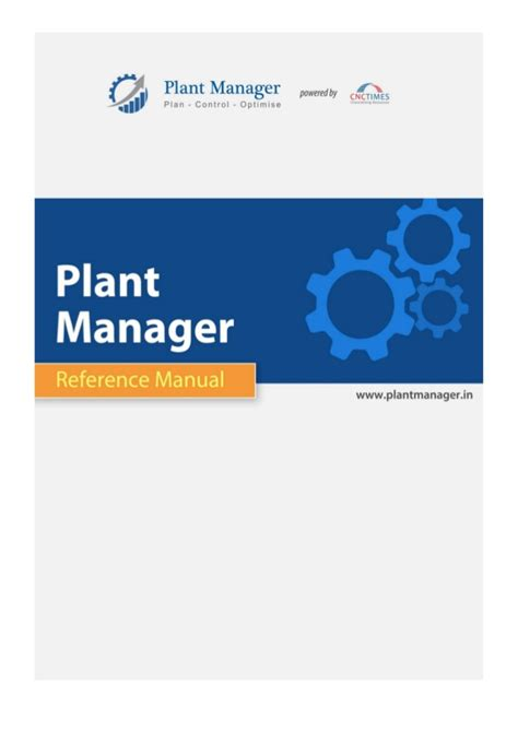 plant manager reference document