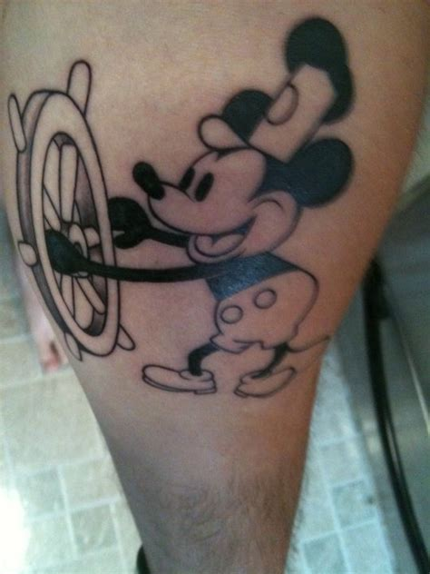 Steamboat Willie Tattoo by Steamboat Willie Tattoo My Style Pinterest