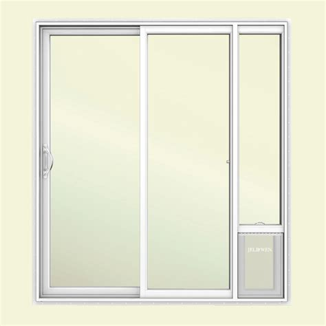 jeld wen      white left hand vinyl patio door