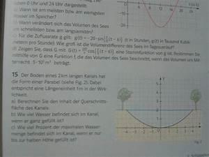 Querschnittsfläche Berechnen : parabel 15 boden eines 2 km langen kanals hat die form einer parabel querschnittsfl che ~ Themetempest.com Abrechnung