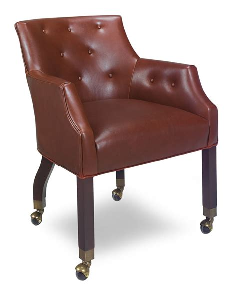 254 c pinewild chair with casters ohio hardwood