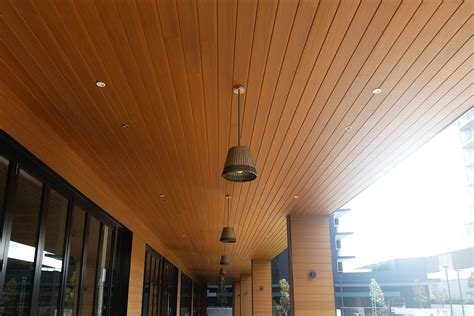 ceiling soffit solution composite timber decking
