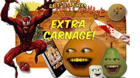 annoying orange lets play kitchen carnage extra