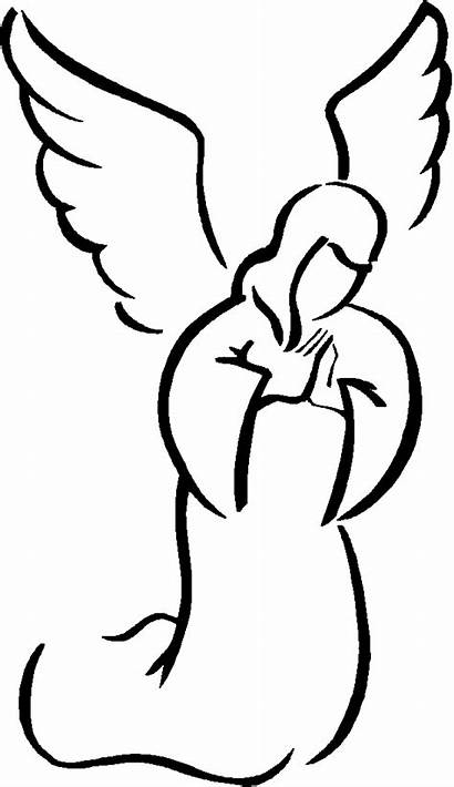 Angel Clip Clipart Simple Wings Drawing Silhouette