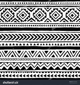 Seamless Ethnic Tribal Pattern Handmade Horizontal Stock ...