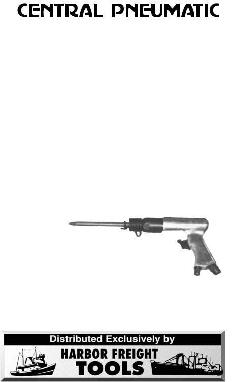 Central Pneumatic Air Compressor 47868 User Manual
