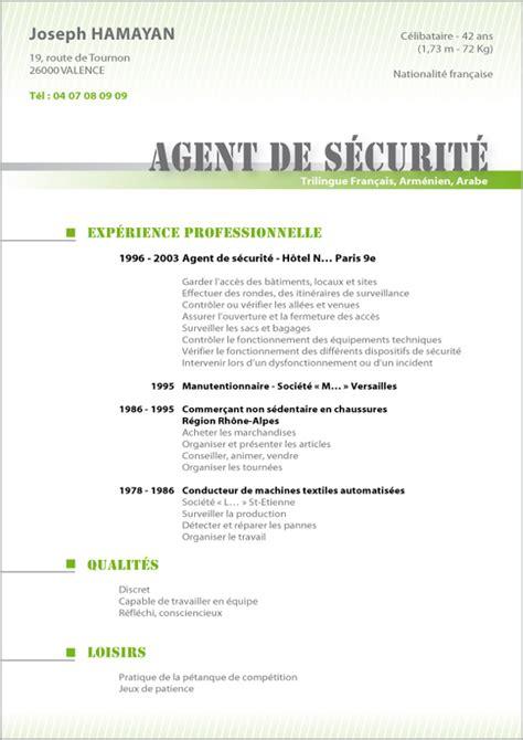 Modele Cv Facile by Resume Format Curriculum Vitae Exemple Gratuit Maroc