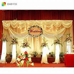 Elegant Style Wedding Indian Voile Curtains With Valance