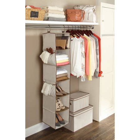 closet organizers walmart better homes and gardens 6 shelf hanging closet organizer
