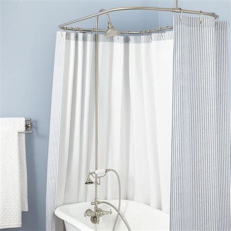 clawfoot tub solid brass shower conversion kit  hand