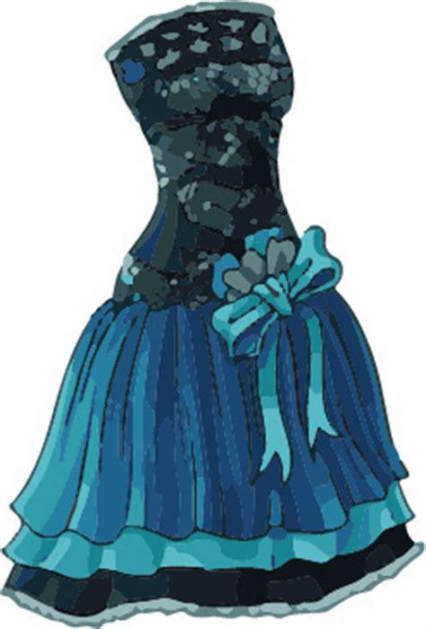 cartoon evening dress fashion vector illustration