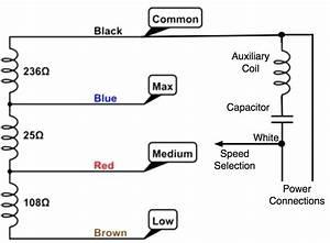 2 Speed Fan Motor Wiring Diagram