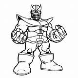 Coloring Squad Super Hero Thanos Pages Printable Print Data Books sketch template