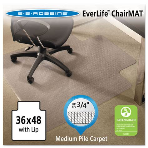 everlife chair mats for medium pile carpet with lip 36 x