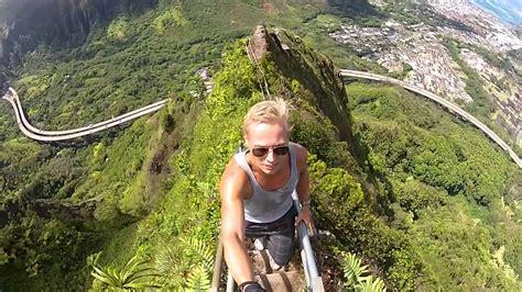 Stairway To Heaven Haiku Stairs Oahu Gopromov Youtube