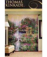 Kinkade Window Curtains by Two Panel Set Kinkade The Garden Of Prayer