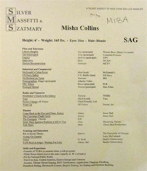 i don t even misha s resume