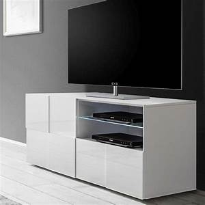 Meuble TV Blanc Laqu Brillant SOFAMOBILI