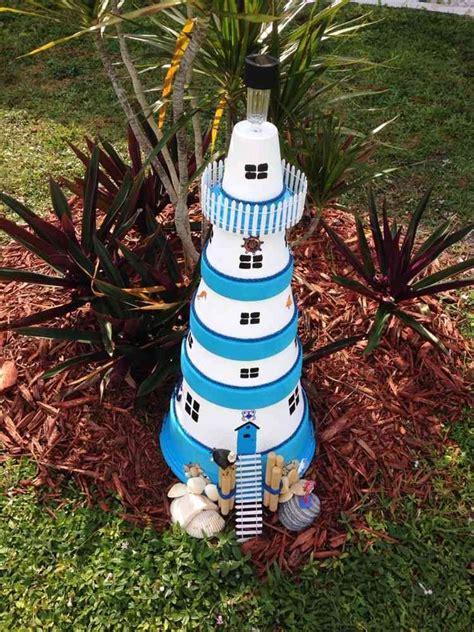 leuchtturm modell selber bauen leuchtturm f 252 r den garten in blau und wei 223 selber bauen