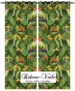 Tissu Imprimé Tropical : style d co exotique plantes feuilles tissu rideau rideaux et tissus ameublement ~ Teatrodelosmanantiales.com Idées de Décoration
