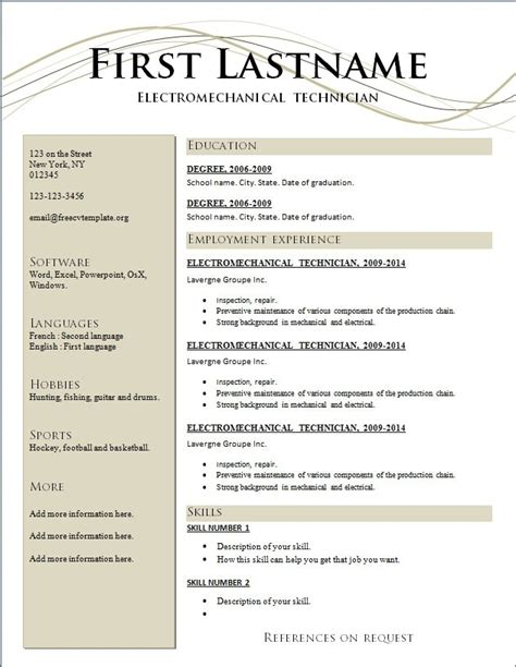 completely free resume templates completely free resume maker best resume gallery